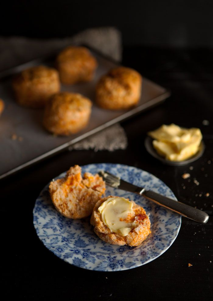 easy  scones with sundreied tomato and Parmesan cheese
