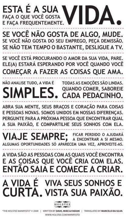 Holstee Manifesto português