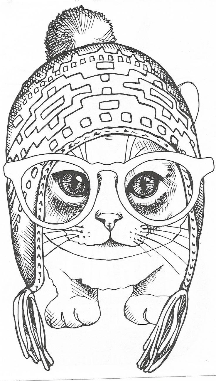 Pin by Margaret Cano on Cat Stuff | Cat coloring page ...