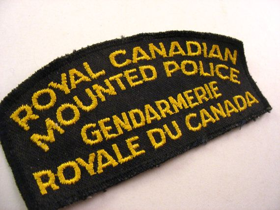 Fabric Patch RCMP Royal Canadian Mounted Police Embroidered Patch Fabric Badge Shoulder Emblem Obsolete on Etsy, $13.43 CAD