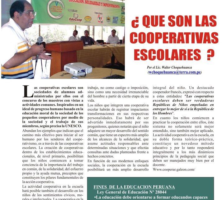 COOPERATIVAS ESCOLARES INCUBADORA DE EMPRENDIMIENTOS SOLIDARIOS