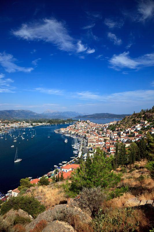 View on Poros and Galatos, #Greece