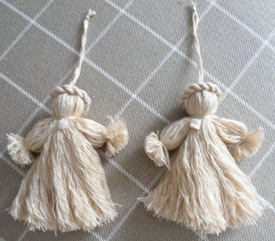 Ange de Noël en laine, Déco Noël à fabriquer - Loisirs créatifs