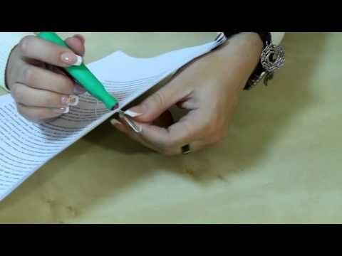 Как прошнуровать и опечатать документ - YouTube