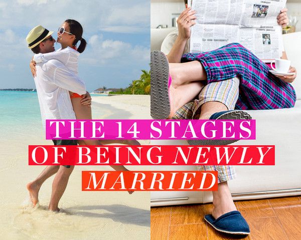 The 14 Stages of Being Newly Married