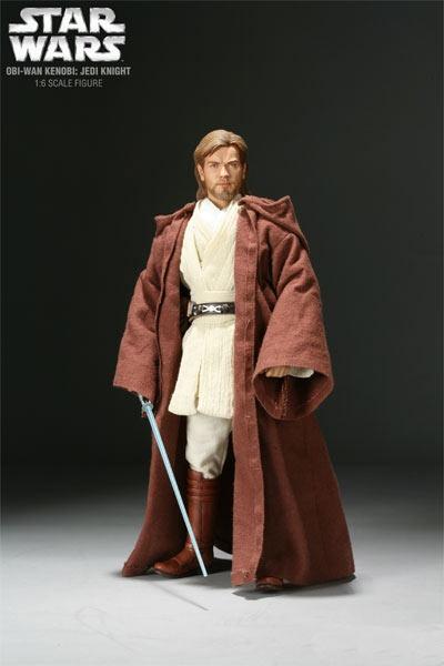Figura Star Wars Episodio II. Obi-Wan, Caballero Jedi. Sideshow Collectibles
