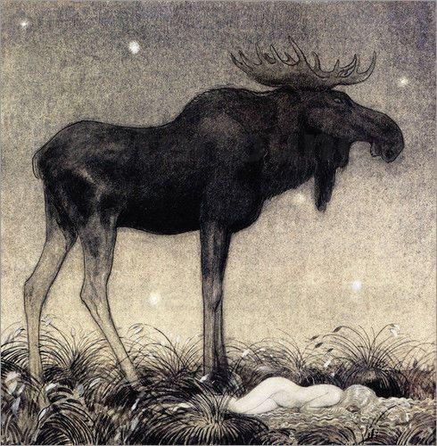 Vintage Poster Leinwandbild Prinzessin Tuvstarr John Bauer