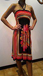 ZANZEA Vestito Corto Floreale Etnico Tribale senza Maniche Sexy Casual Elegante Spiaggia Cocktail Ufficio per Donna: Amazon.it: Abbigliamento