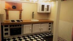 Keuken zelfgemaakt poppenhuis