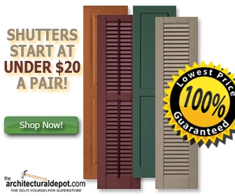 How to Paint Exterior Plastic Shutters, even though these directions will not work because I am forced to use a certain brand and color by our stupid HOA