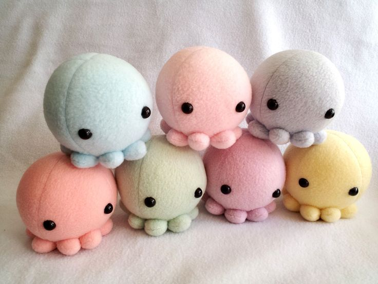 My most popular plushes yet are my little adorable octos. Comes in a variety of pastel colour choices