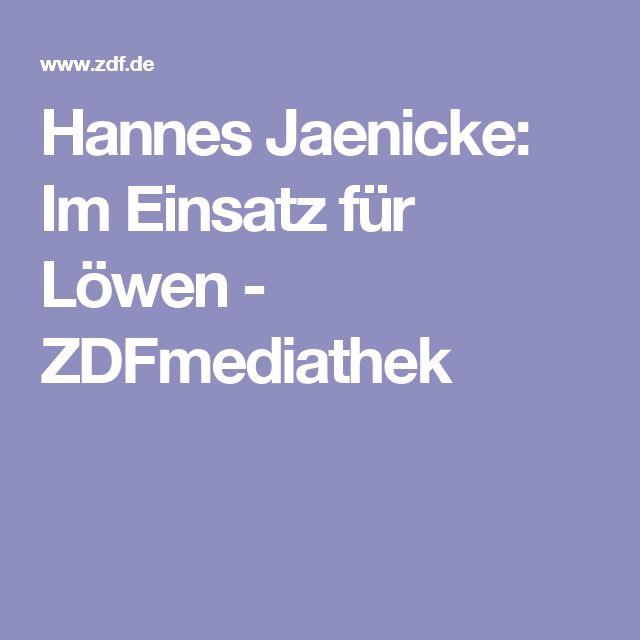 Hannes Jaenicke: Im Einsatz für Löwen - ZDFmediathek