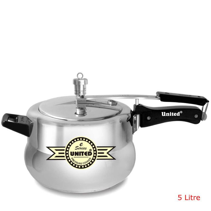 Buy 5 Litre E- Series Aluminium Inner Lid Pressure Cooker,ISI Certified with proper user safety.