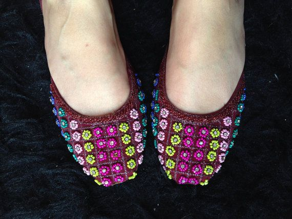Indian shoes Shoes flat shoes embroidered by SamiModernStyles