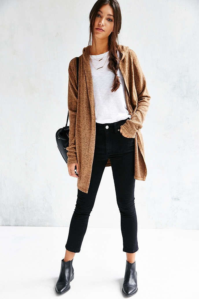Silence + Noise Bleeker Drapey Cardigan - Urban Outfitters
