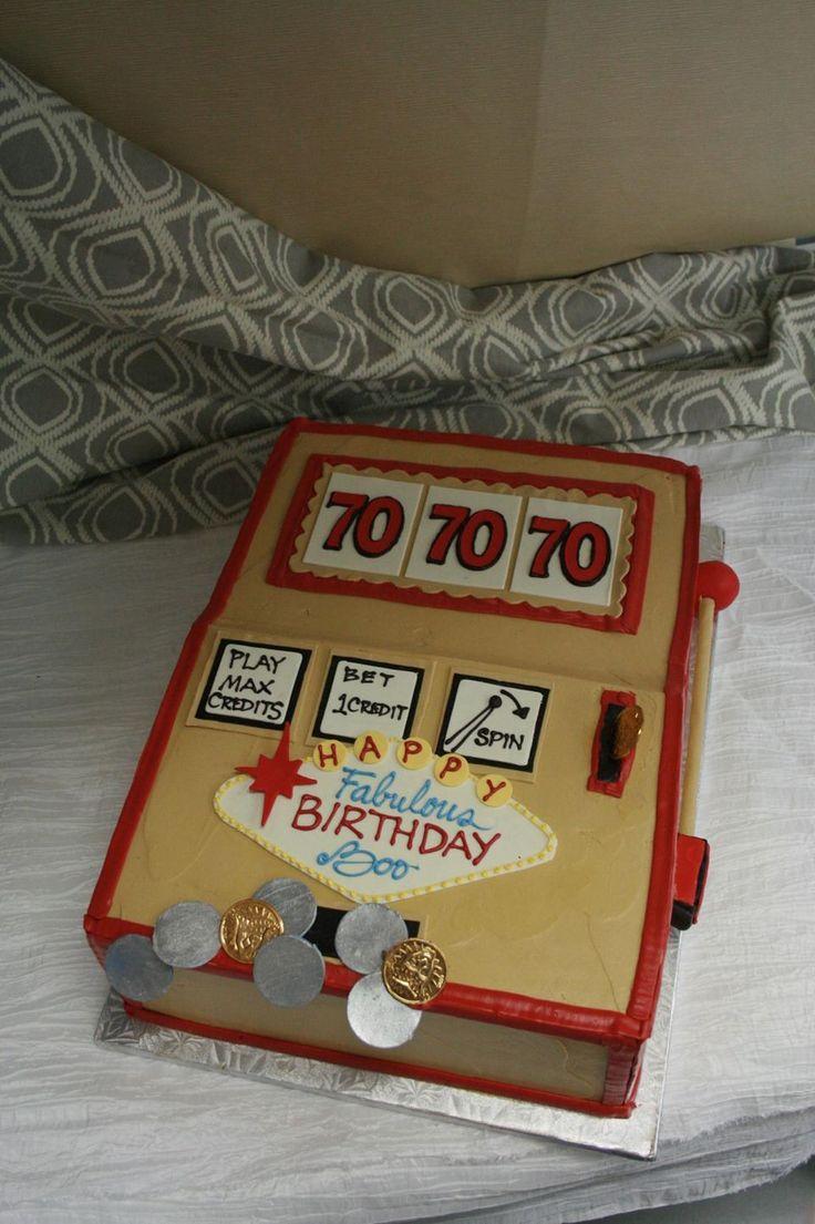 7-7-7 Lucky Slot Machine Birthday cake. Dessert Works Bakery. Westwood, MA