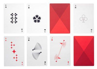 Cartes à jouer / 54 cartes Noir, rouge & blanc - Hay