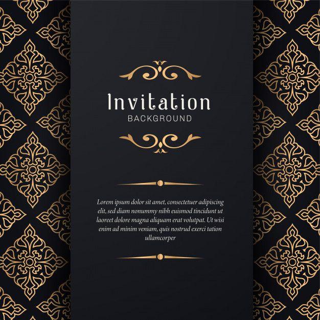 Ornamental Wedding Invitation With Elegant Style Poster Background Design Wedding Invitations Invitations