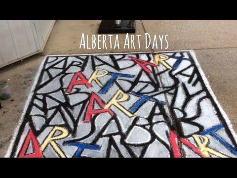 Chalk Art Lettering - YouTube