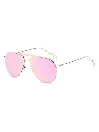 Gafas de sol de oro con espejos piloto