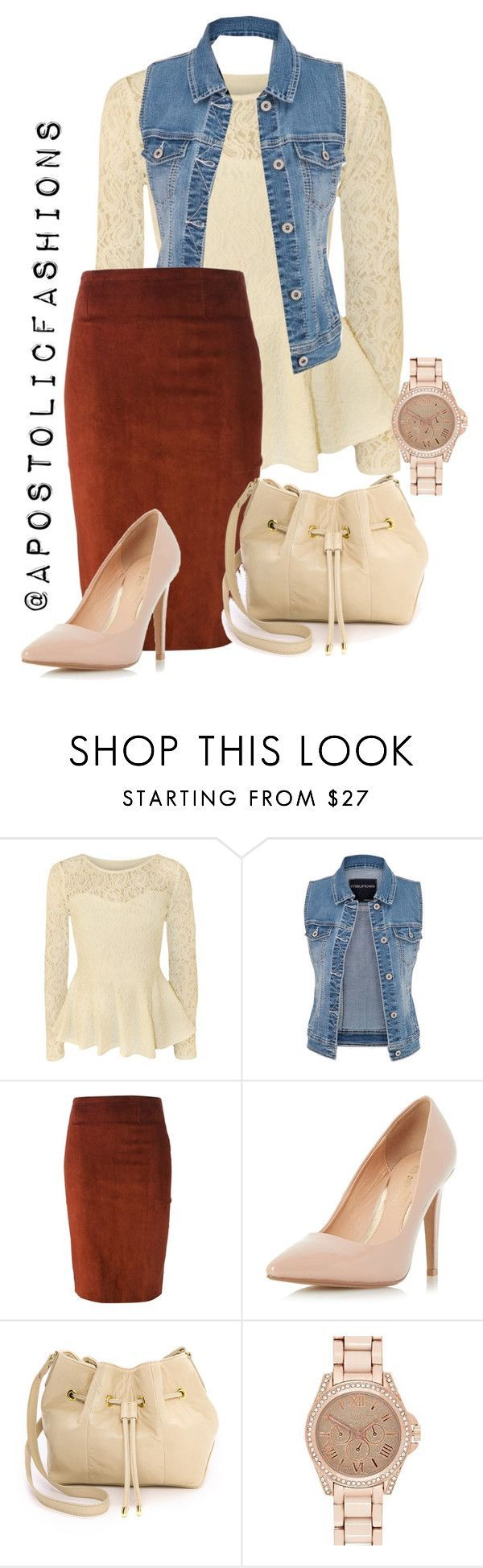 """""""Apostolic Fashions #1343"""" by apostolicfashions ❤️ liked on Polyvore featuring Papermoon, maurices, STOULS, Dorothy Perkins, Lauren Merkin and River Island"""
