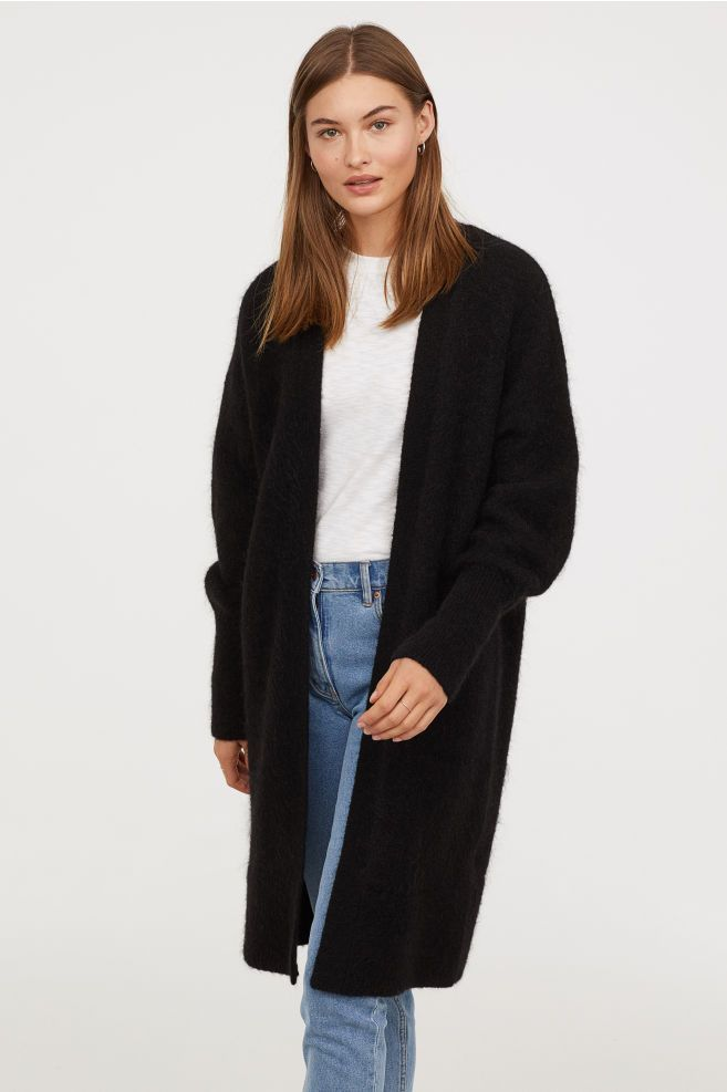 5199d56fcdca Long Wool-blend Cardigan in 2019 | MY FASHION TRAVEL | Black ...