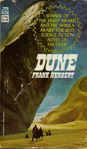 sci fi book cover art | Dune | Vintage Sci Fi Book Covers