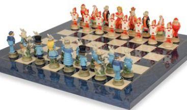 Alice In Wonderland Chess Set