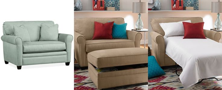 Kaleigh Fabric Twin Sleeper Chair Bed: Custom Colors - Chairs & Recliners - Furniture - Macy's