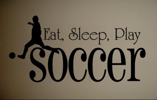 Wall Decal Art Sticker Quote Vinyl Wall Decal Eat Sleep Soccer Kids Quote Art