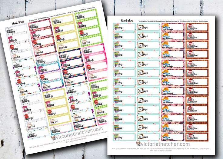 Free Meal Prep and Reminder Planner Printables | Victoria Thatcher