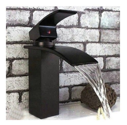 Waterfall Bathroom Sink Oil Rubbed Bronze Vessel Vanity Mixer Tap Faucet YF 090 | eBay...brick wall black and white