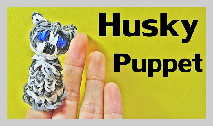 Rainbow Loom Charms: HUSKY Finger Puppet Tutorial by DIY Mommy