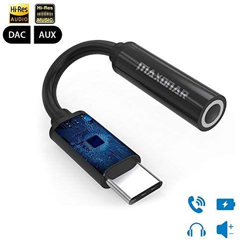 Pixel 2 XL USB C Headphones Audio Jack Adapter Maxonar Hi