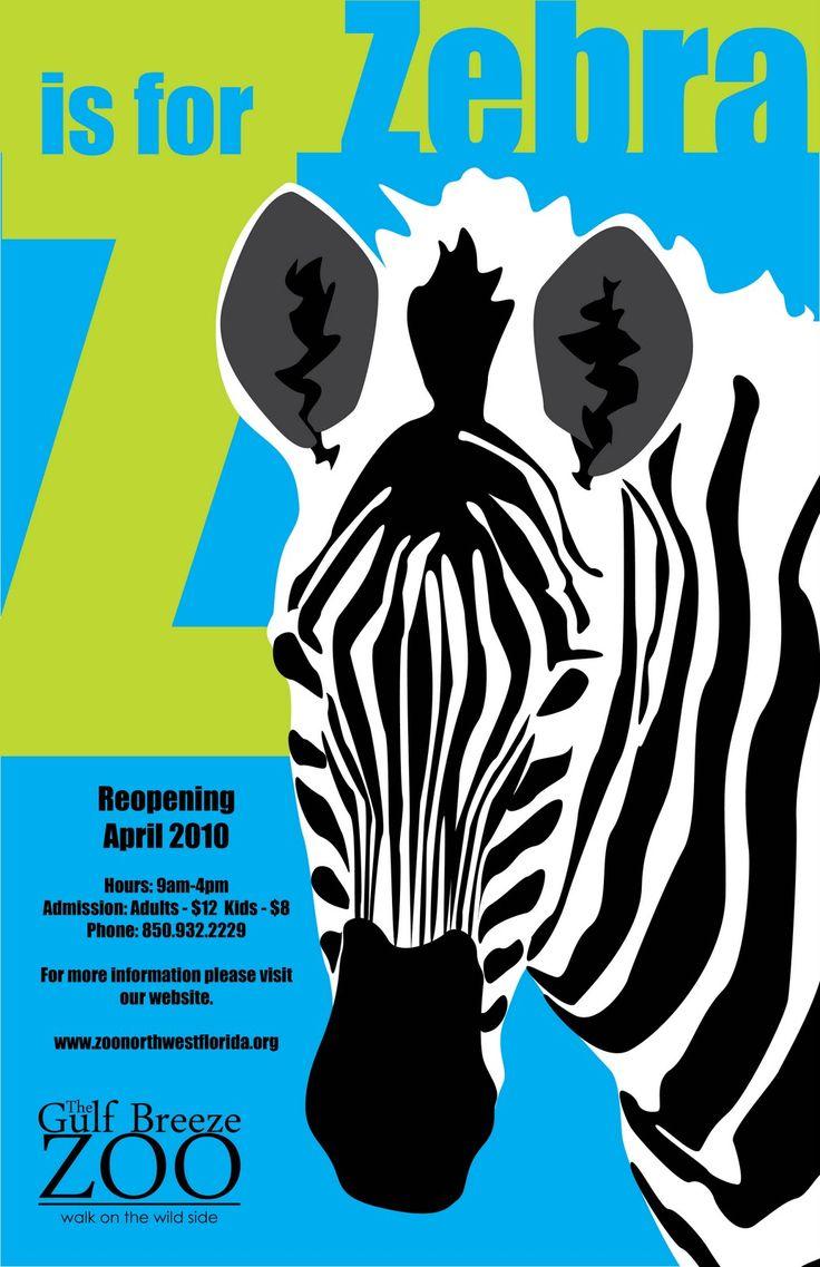 Zoo poster design - Uneek Zoo Posters