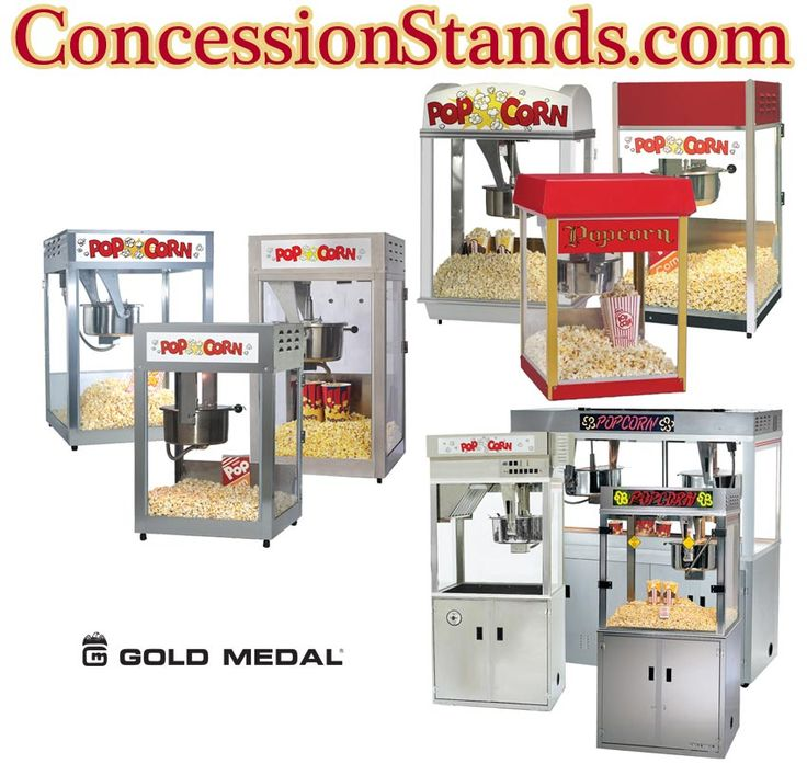 The Gold Medal popcorn machine is regarded as the best you can get for sale. Gold Medal has been making popcorn makers since the 1940s and has the largest selection of poppers. When you select one of Gold Medal's popcorn machines, you are getting very heavy-duty construction and reliability like no other brand on the market. Buy Gold Medal once and you will never buy any other brand.