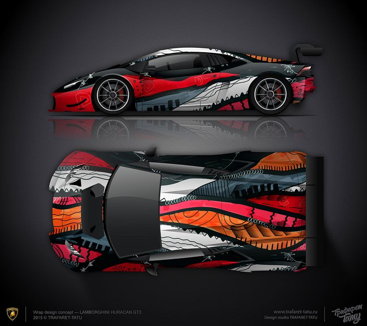 Wrap Design Concept 2 Artcar Lamborghini Huracan Gt3