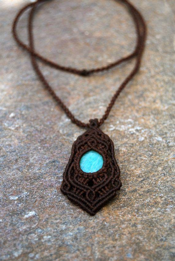 Handmade macrame pendant. by MitosKnitwear on Etsy