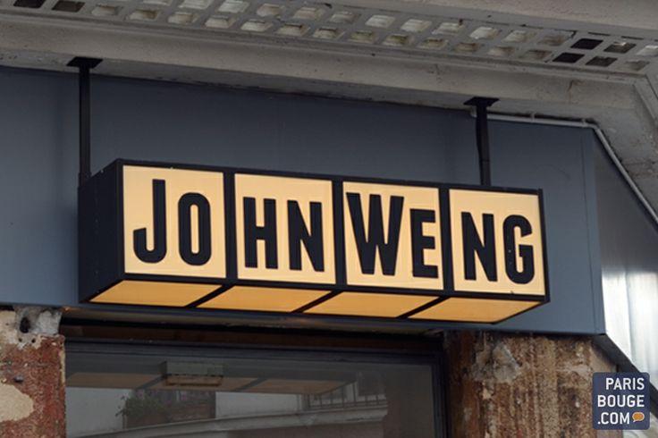 John Weng 20 rue du Faubourg Poissonnière, 75010. Ouvert du lundi au samedi de 12h à 15h et de 18h à 23h. Environ 19 € à la carte. Formule à 16 € le midi. téléphone : 0142462781 métro : Bonne Nouvelle (8,9), Cadet (7)