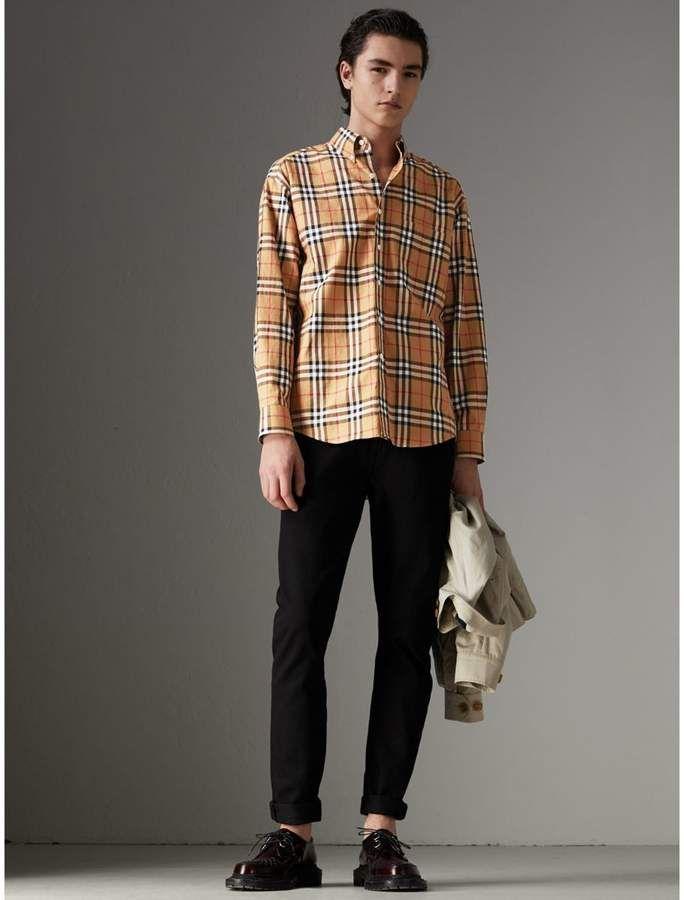 cdf5e43d Burberry Button-down Collar Vintage Check Cotton Shirt | ..Men's ...