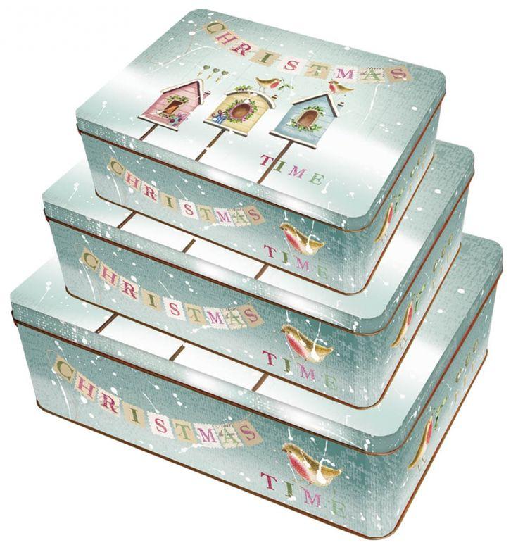 Sada 22 - 3ks Plechové krabice na cukroví - Christmas Fairytale č. 22/216529 SET