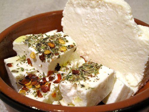 Beyaz Peynir, a salty, unpasteurized Turkish sheep cheese.