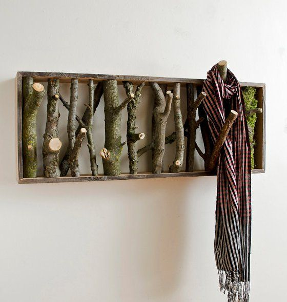 wolf den coat rack from Cantilever and Press - branch coat rack made from reclaimed lumber http://www.etsy.com/shop/cantileverandpress #decor #homes