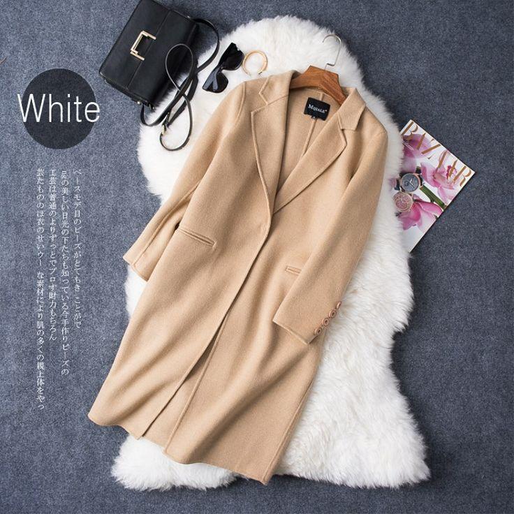 Женские зимняя куртка теплая шерсть кашемира с отложным воротником свободные широкие Талия Пальто Длинные женские куртки зима 1528купить в магазине Modern woman наAliExpress