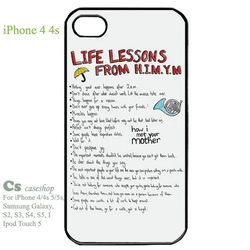 How I Met Your Mother Case for Iphone 4/4s Hard Plastic | 5STAR - Accessories on ArtFire