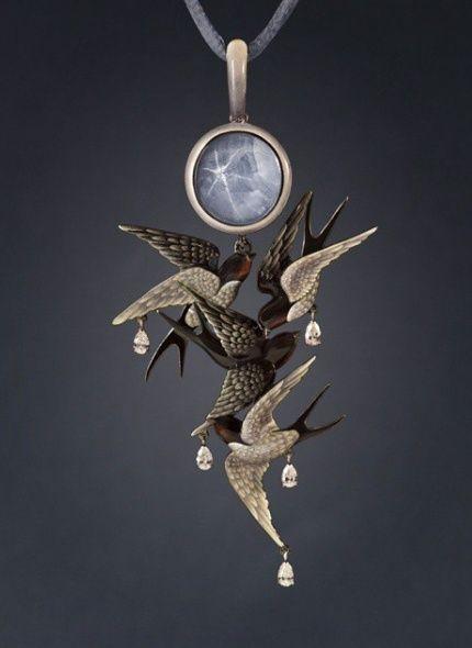 Swallows pendant by Ilgiz Fazulzyanov