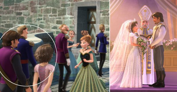 Rapunzel and Eugene appear in Arendelle! Play 'Frozen' Find-It! Discover All the Easter Eggs in Disney's Blockbuster