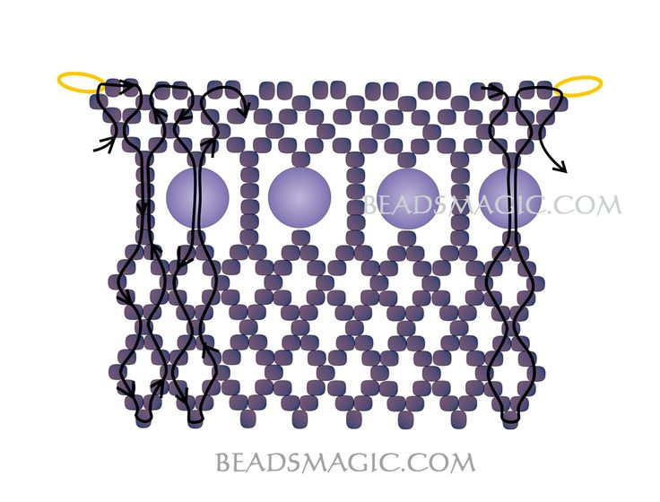 Free pattern for necklace Opium ~ Seed Bead Tutorials