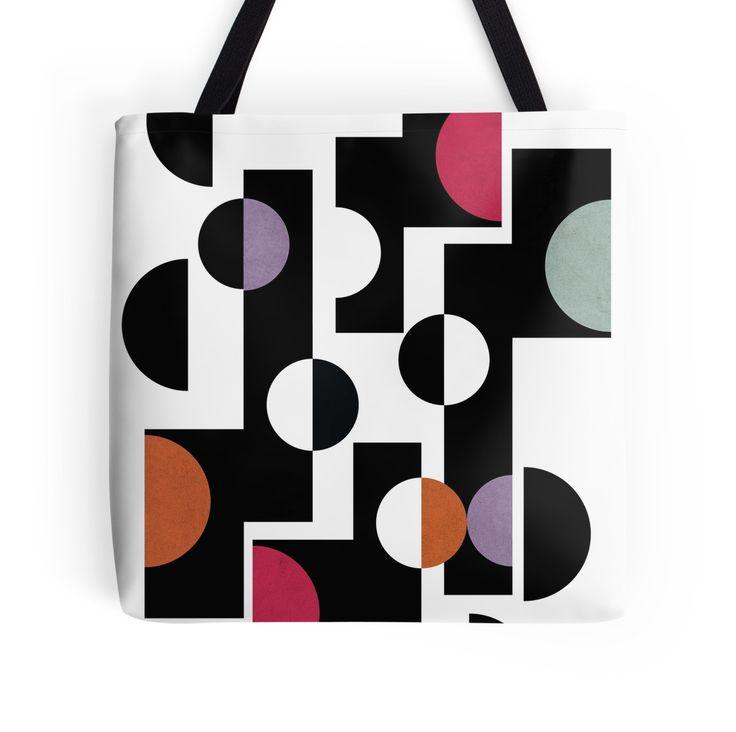MidCentury Modern Geometric Pattern Print by #PrintsProject #totebag #geometricprint #trends #redbubble