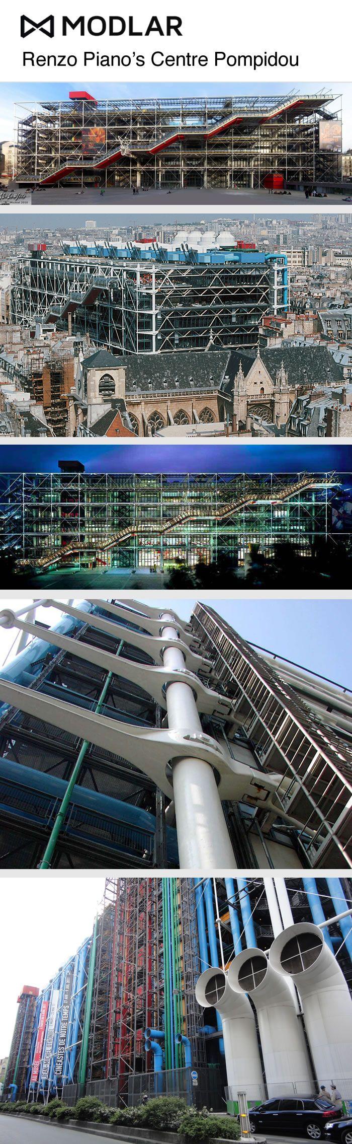 Renzo Piano's Centre Pompidou #Architecture #Renzo Modlar.com